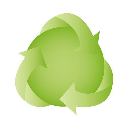 la: Icon recycling, vector illustration. Isolated on white background.