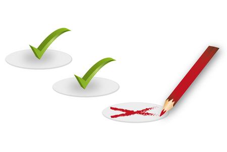 cancellation: Validation - Check symbol illustration.