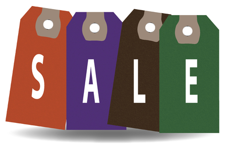 Reduction, Selling, Sale, Labels Illustration