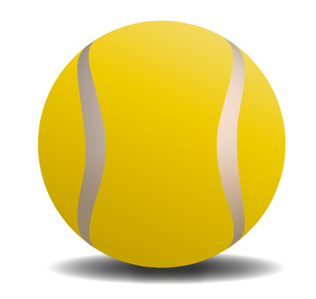 Tennis ball with shadow Illustration