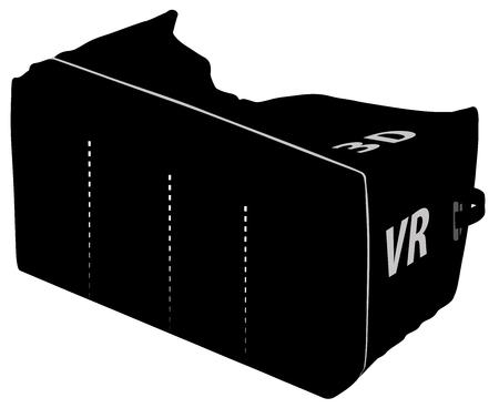 3 D VR - 3 D メガネ本物の仮想