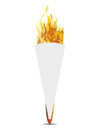 fiery: White torch Illustration