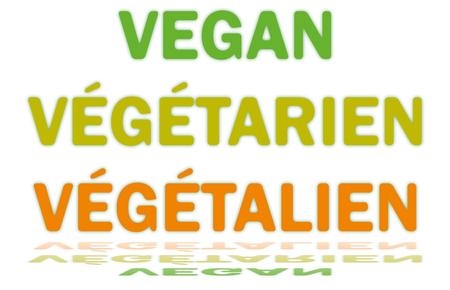 Text Vegan - Vegetarian - Vegetalien Ilustrace