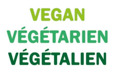 Text Vegan - Vegetarian - Vegetalien Иллюстрация