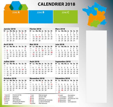 Calendar 2018 Banco de Imagens - 82065811