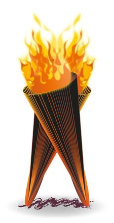 Torche Flammes Feux. Illustration