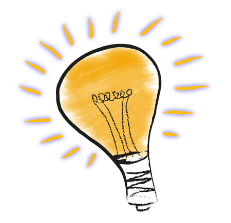 Orange light bulb Illustration