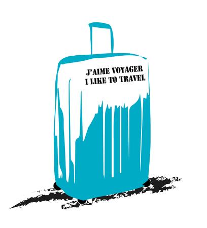 Luggage drawing