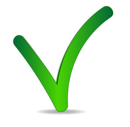 vert chèque illustration vectorielle sur fond blanc.