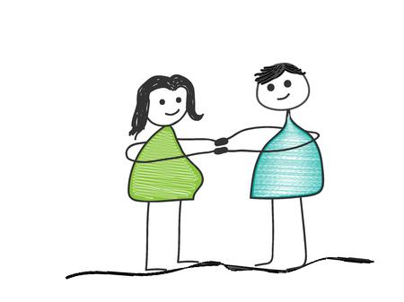 Parent waiting for a child Vector illustration. Ilustração
