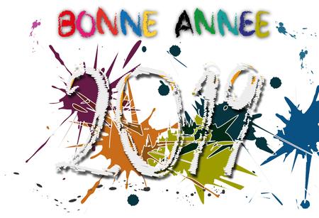 2019, abstrait, agenda, an, année, arrière plan, background, bonne, bonne année, calendrier, carte, nombre, carte de vœux, célébration, doré, faire-part, fête, heureuse, joyeux, noël, meilleur, nouvel, nouvel an, nouvelle, icone, saint, sylvestre, vacances, voeux, vœux, scintillant, sobre, vœux 2019, épuré, étoiles, heureuse année, invitation, joie, jour de lan, lettrage, lettres, message, mot, noir, réveillon, dorée, fêter, futur, réussite Illustration