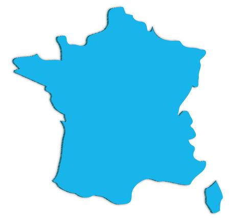 France map illustration.