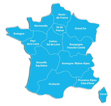 Carte des régions de France Banque d'images - 93046399