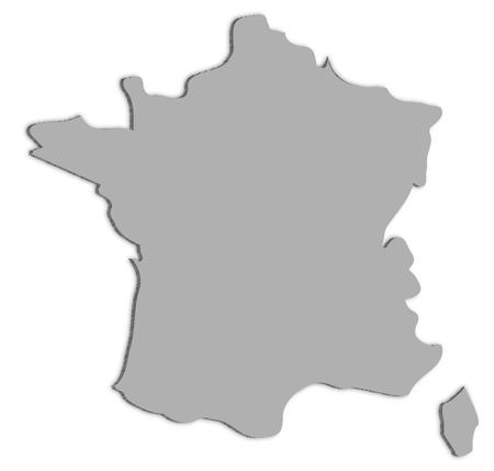 Illustration de carte de France. Banque d'images - 93046400