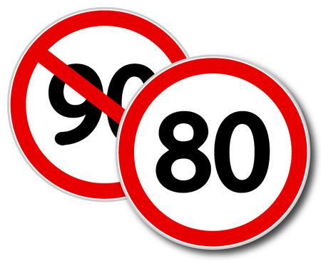 Beperking vitesse 80 km  u