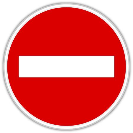 Signs prohibited - Signage - Signal icon.