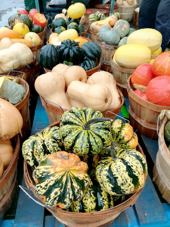 The market for pumpkins, squash and other