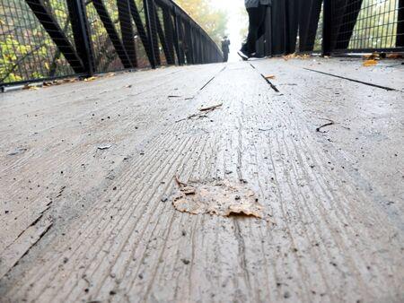 People walking on a bridge