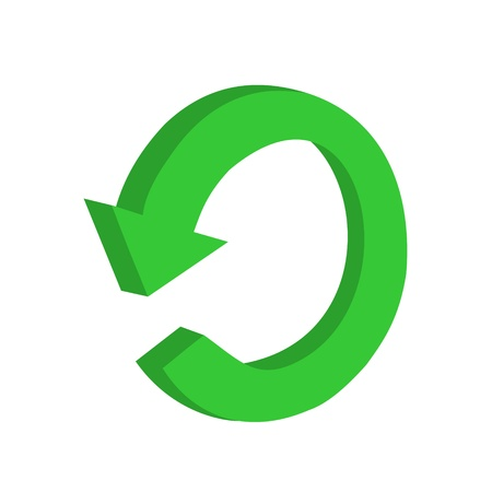 3D circular green arrow or recycling Vector