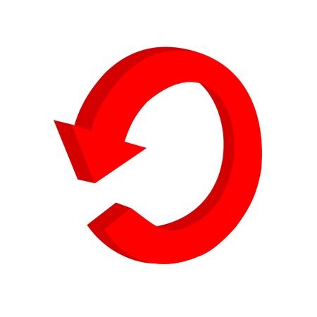 3D circular red arrow or recycling Stock Vector - 18111340