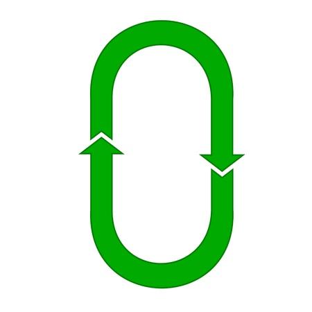 circular green arrow or recycling Vector