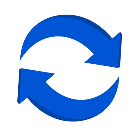 3d pijl recycling Stock Illustratie