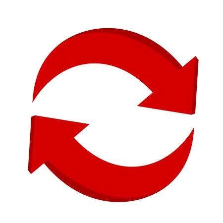 3d reciclaje flecha Ilustración de vector