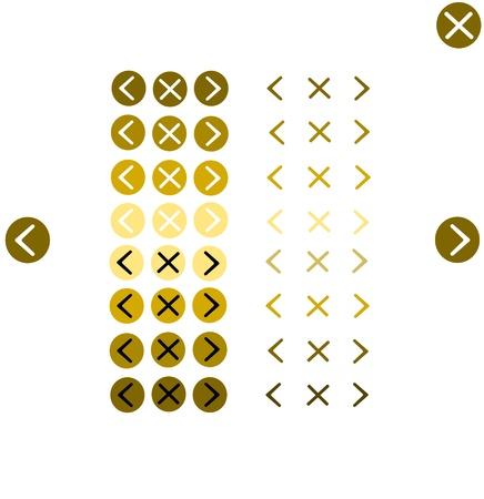 button navigation tools Stock Vector - 18149552