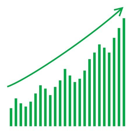 bourse: vector bar graph