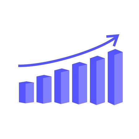 staaf diagram: vector 3d staafdiagram Stock Illustratie