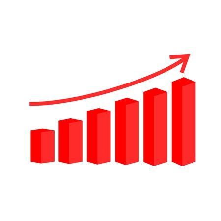 bourse: vector 3d bar graph