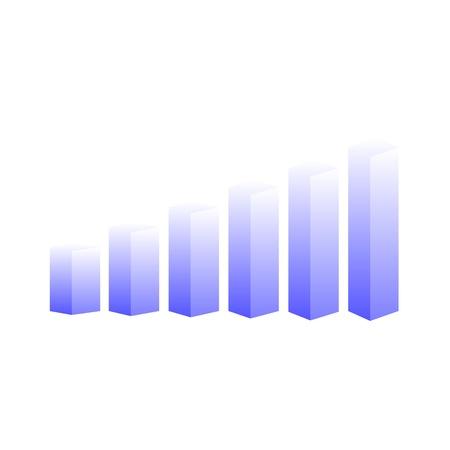 staaf diagram: vector 3D-staafdiagram Stock Illustratie