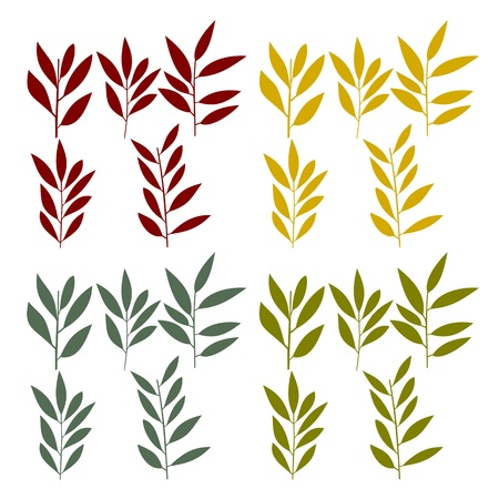 four species: set of reed or wheat