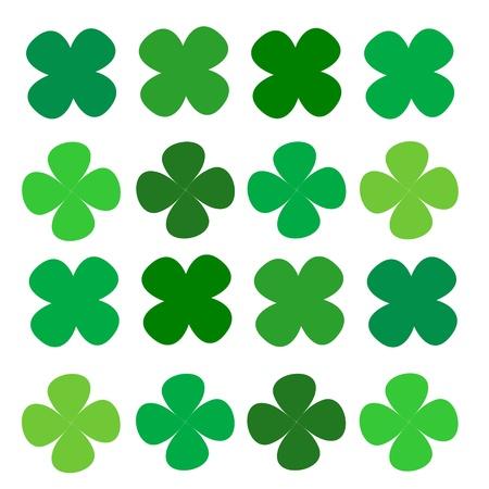 four leaf: series four leaf clover green