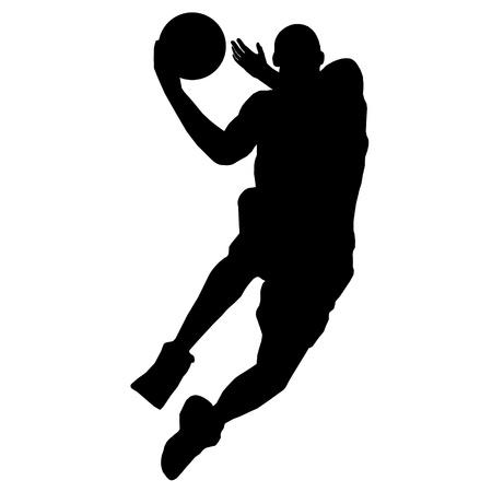 basketball player with ball Vector