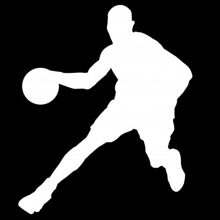 joueur de basket-ball avec ballon