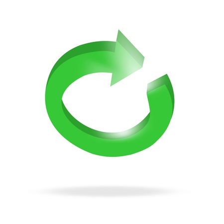 3d circular green arrow or recycling and bright Stock Vector - 20597260
