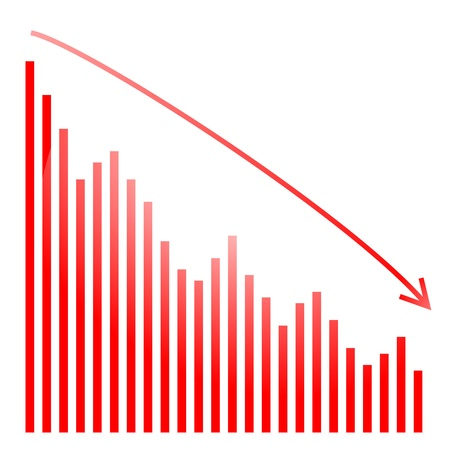 bourse: red bar graph and bright