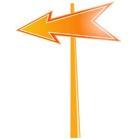 signaling: road sign left turn Illustration