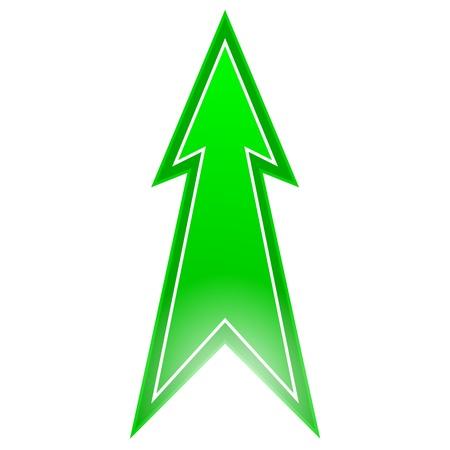pointing up: freccia verde rivolta verso l'alto
