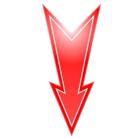 arrowheads: red arrow pointing down