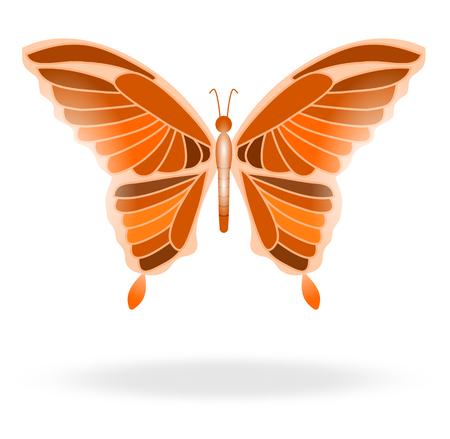 un papillon coloré et lumineux en vol
