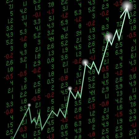 stock quote: an illustration stock quote a figure rising