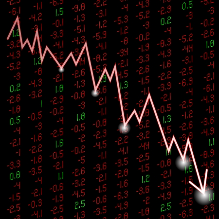stock quote: an illustration stock quote a figure down