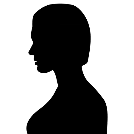 face of beautiful woman of profile Stock Vector - 22806013