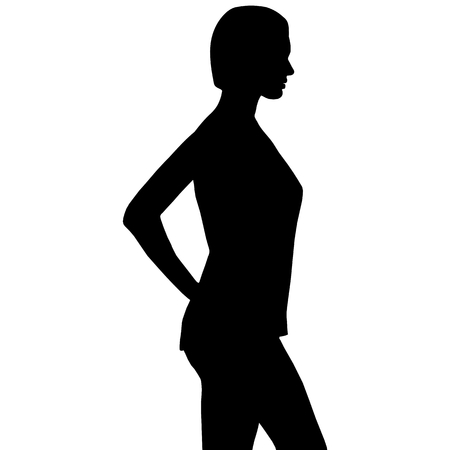 profile of a beautiful woman with sexy pose Vector