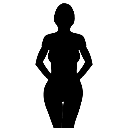a beautiful woman taking a pose from the front Vector
