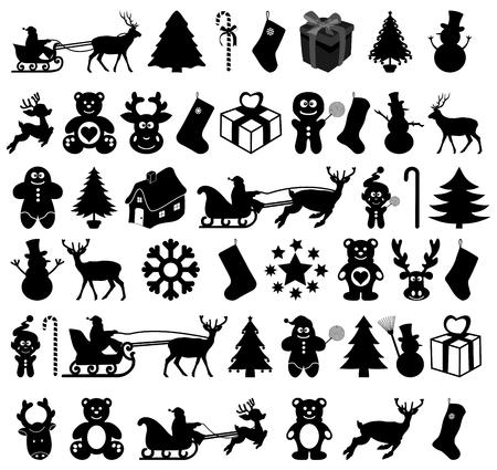 Muchos diseño de la navidad en la sombra Foto de archivo - 24374474