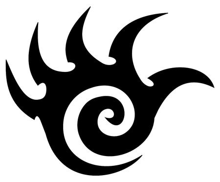 tatoeage van een wapen van science fiction blad Stock Illustratie