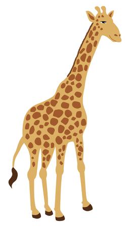standing alone: giraffe standing alone Illustration